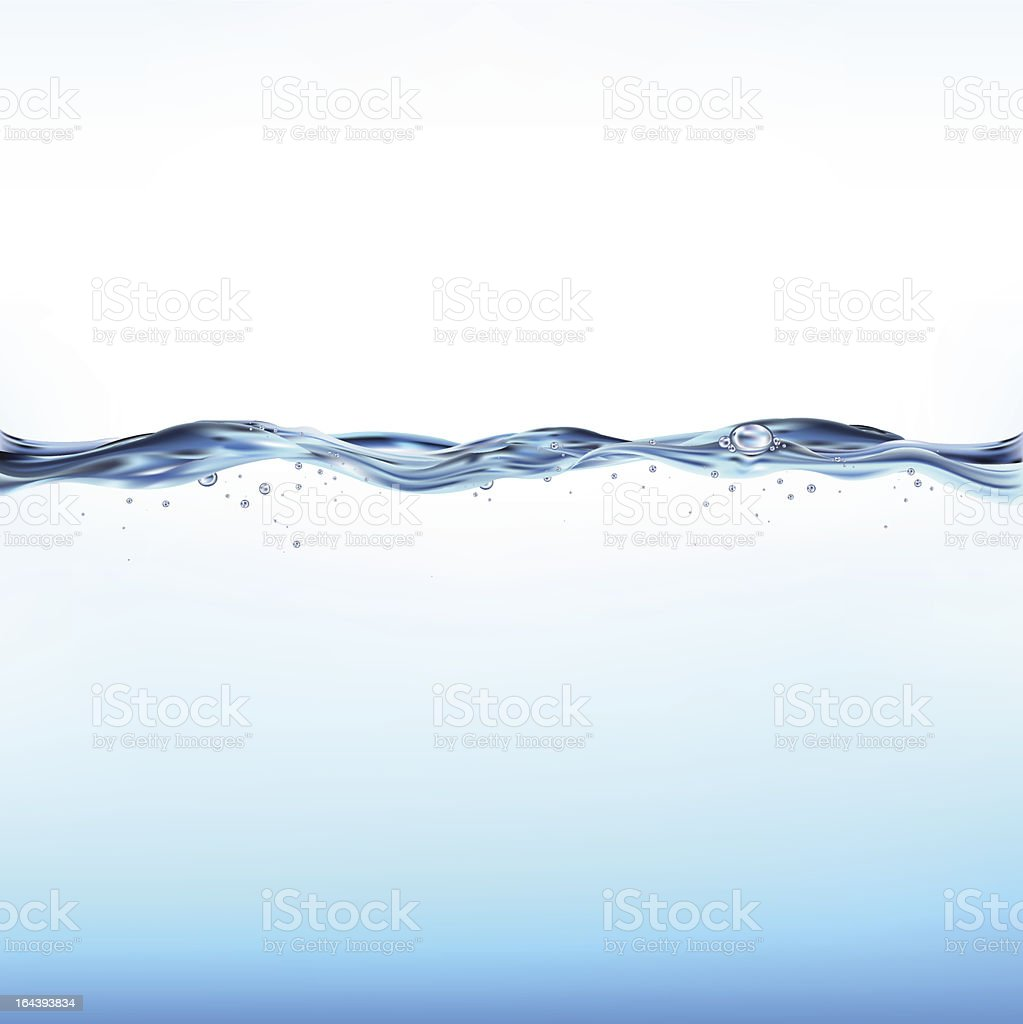 Blue Vector Water Wave vector art illustration