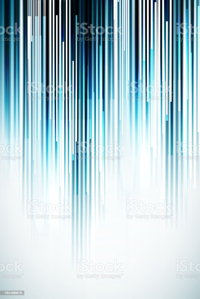 Blue vertical stripes and white light on a background vector art illustration