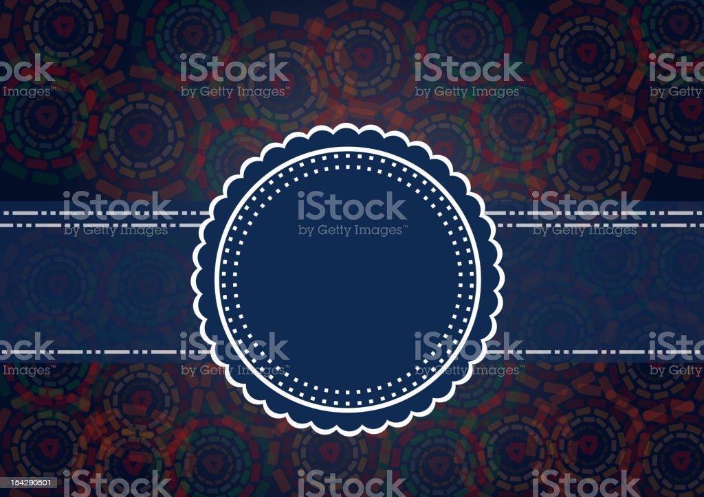 blue vintage label for design stock photo