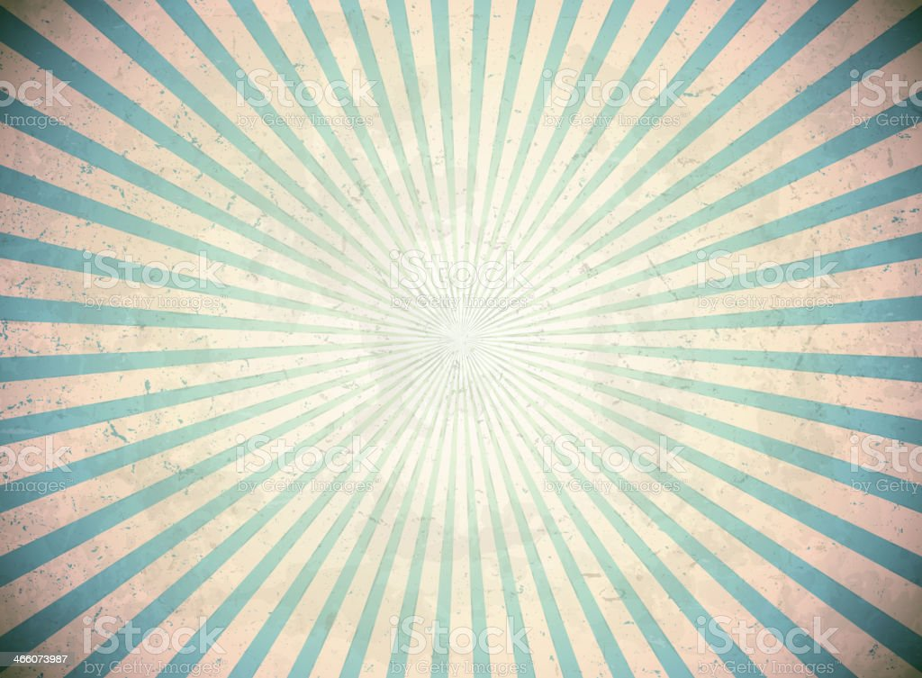 Blue vintage rays royalty-free stock vector art
