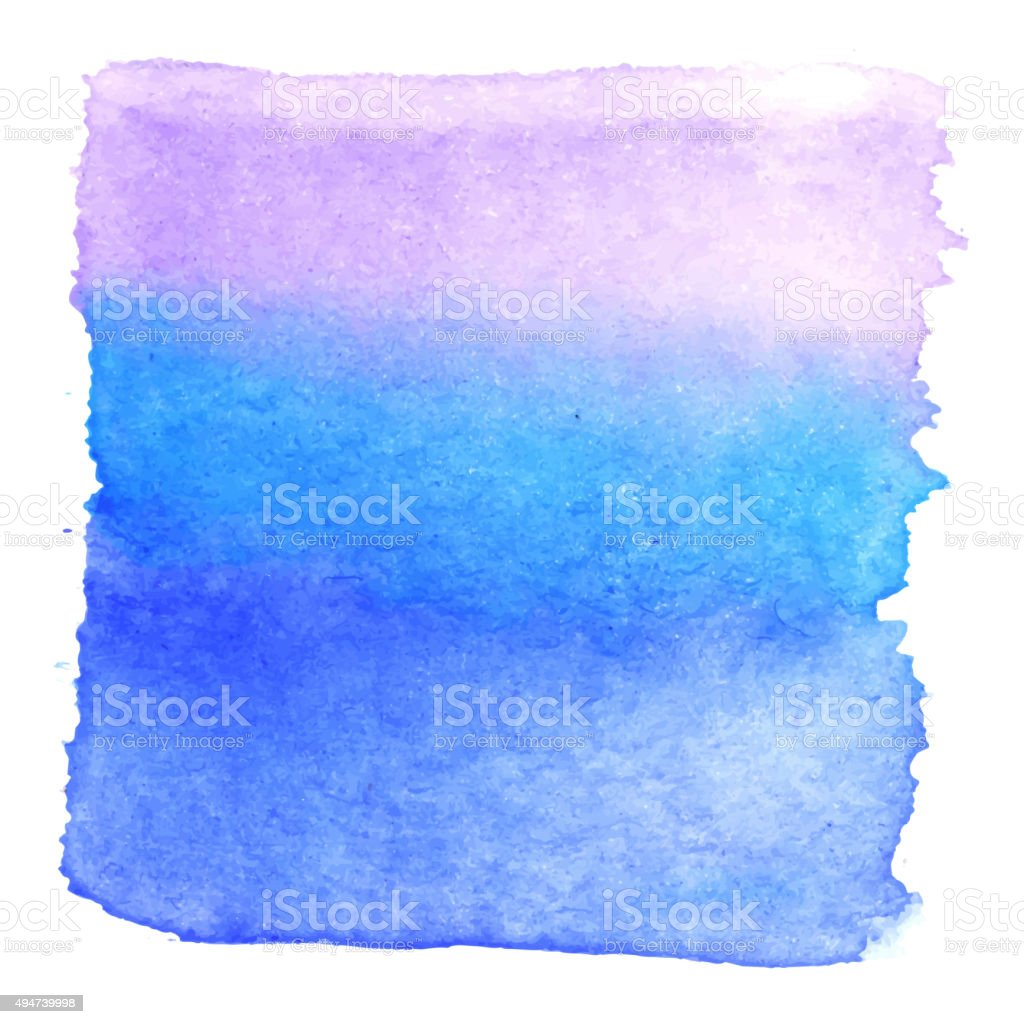 Blue violet watercolour abstract square painting vector art illustration