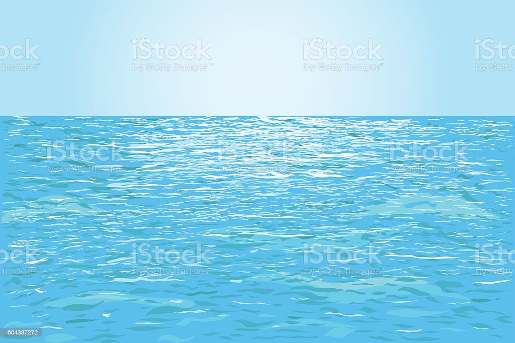 Blue water background vector art illustration