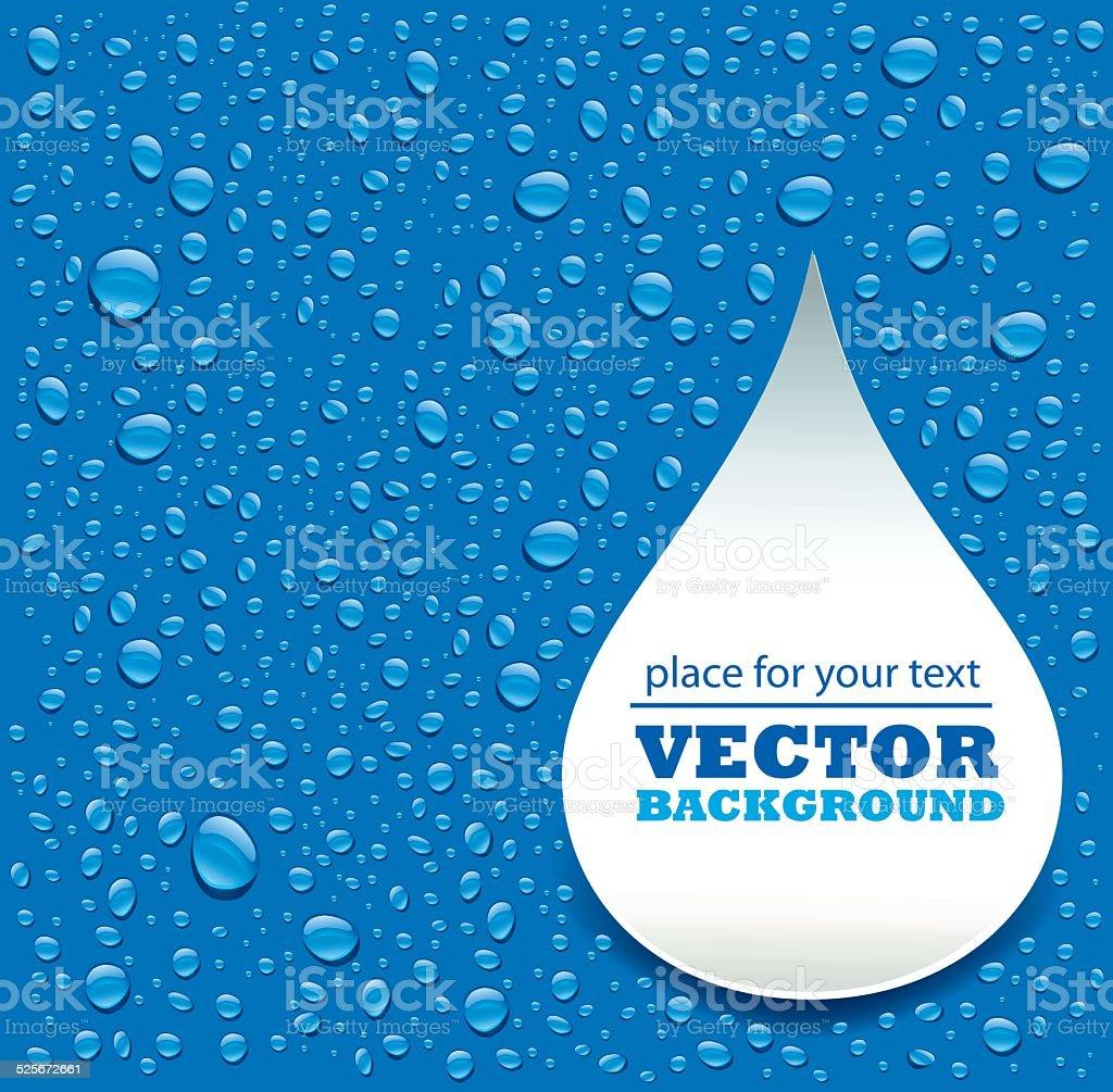 blue water drops background vector art illustration