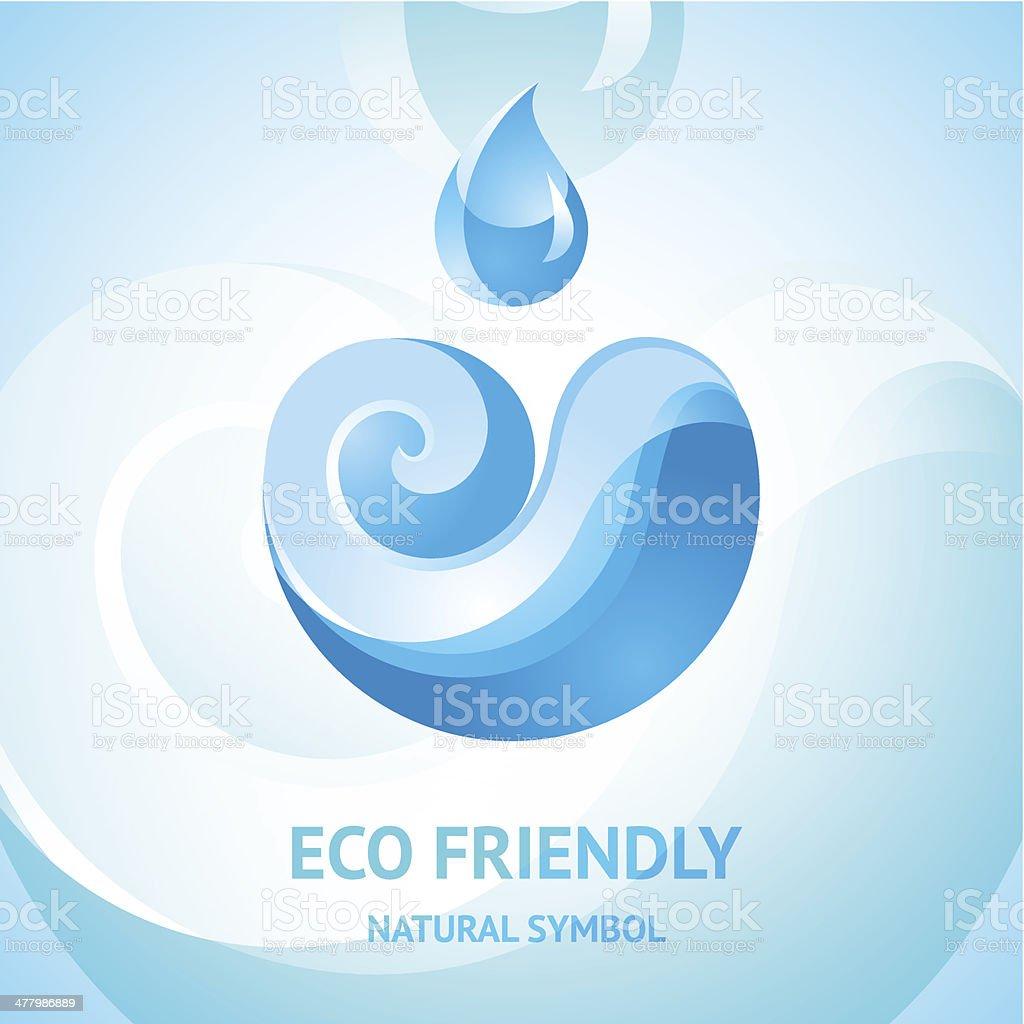 Blue water natural symbol royalty-free stock vector art
