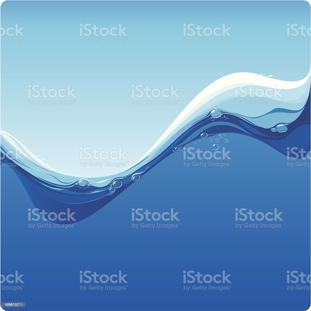 Blue water wave royalty-free stock vector art