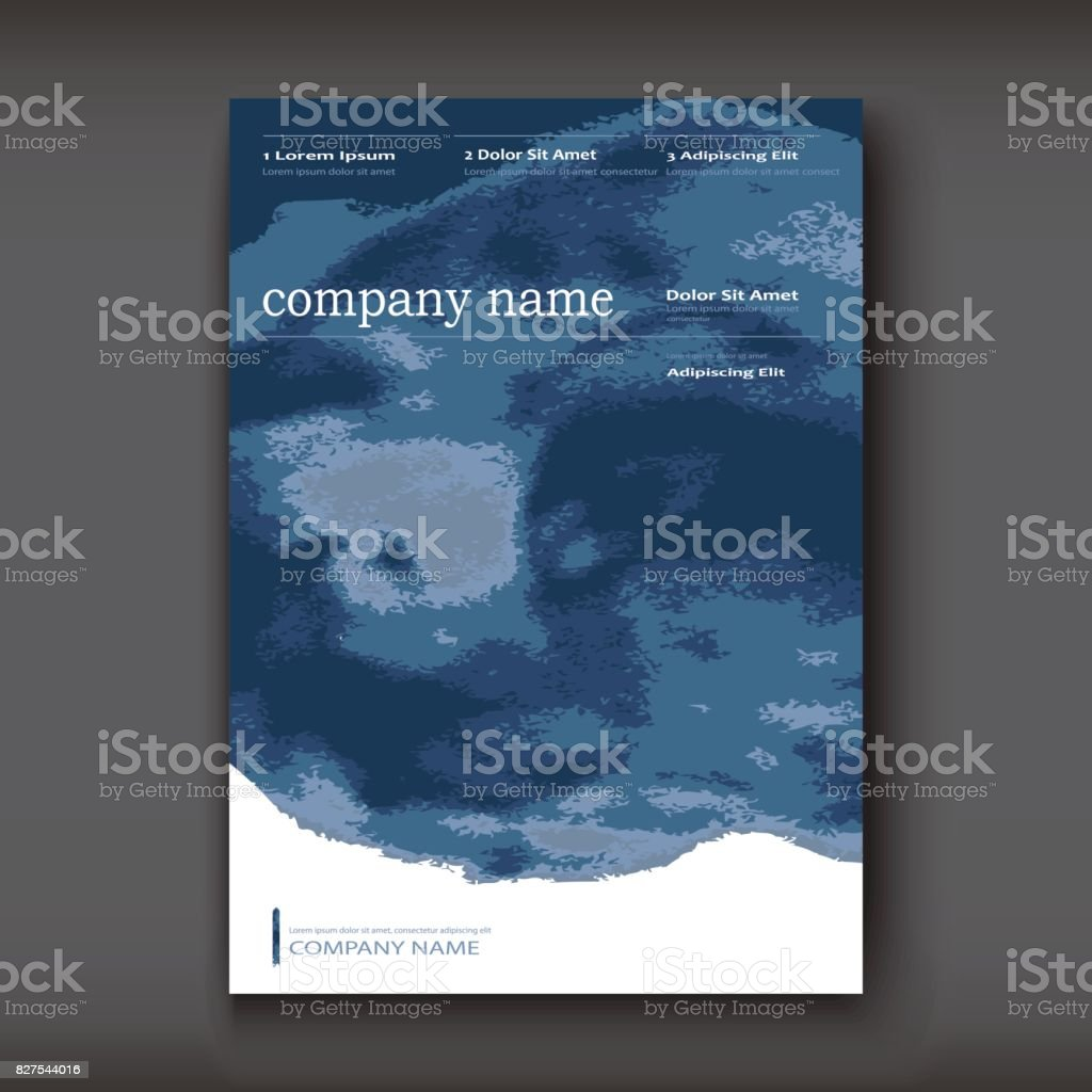 Watercolor book covers - Blue Watercolor Explosion Shape Artistic Covers Design Decorative Texture Paint Fluid Colors Backgrounds Trendy