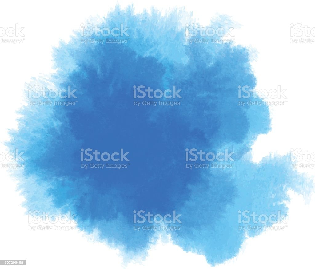 blue watercolor vector art illustration