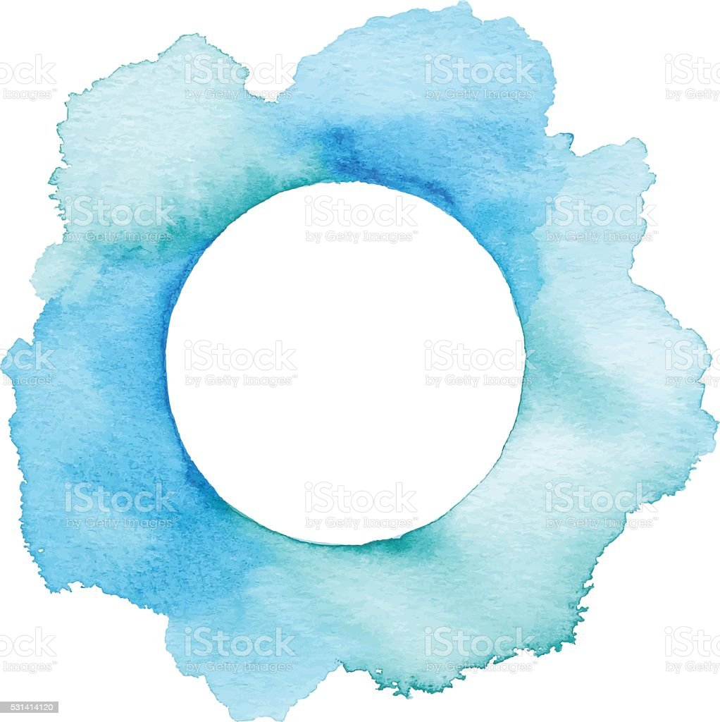 Blue Watercolor With Copyspace vector art illustration