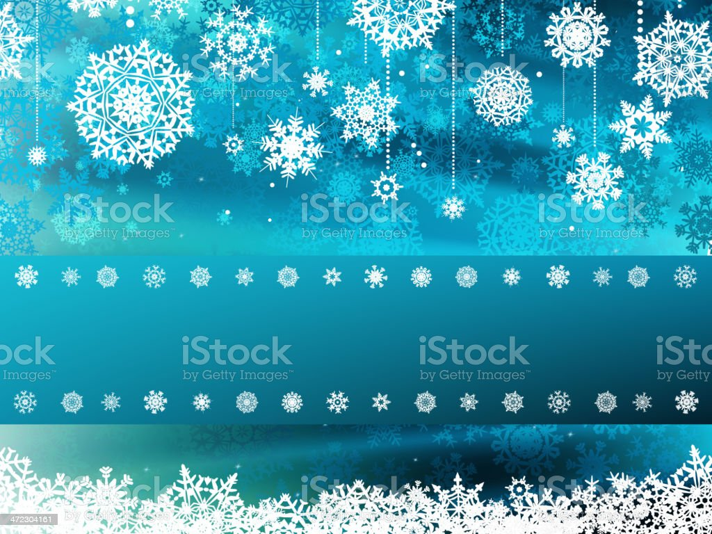 Blue wave christmas with snowflake. EPS 8 royalty-free stock vector art