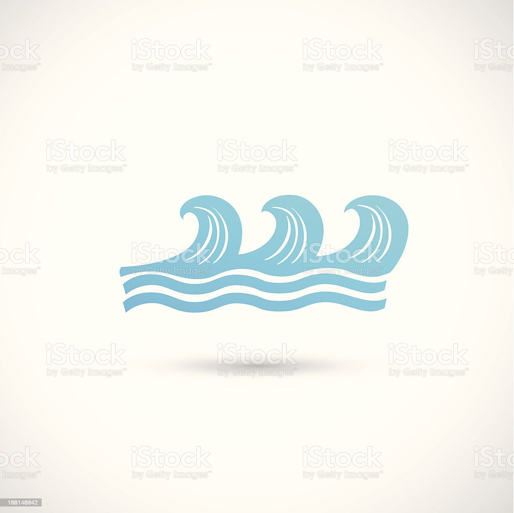blue wave icon royalty-free stock vector art