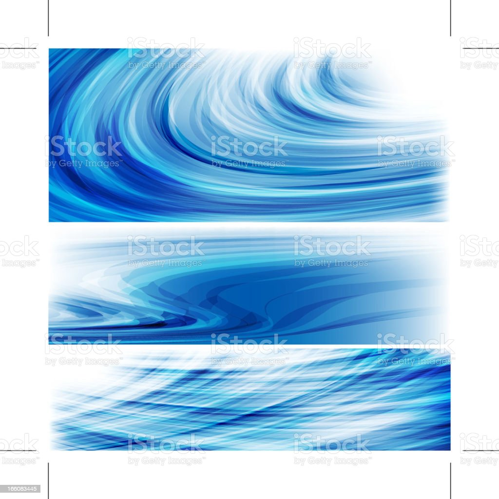 Blue waves royalty-free stock vector art