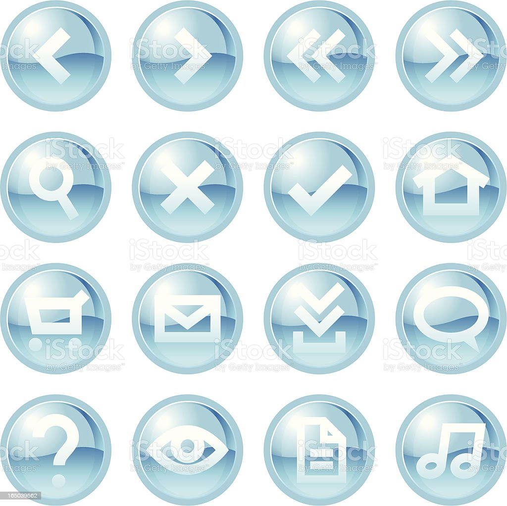 Blue Web Buttons royalty-free stock vector art