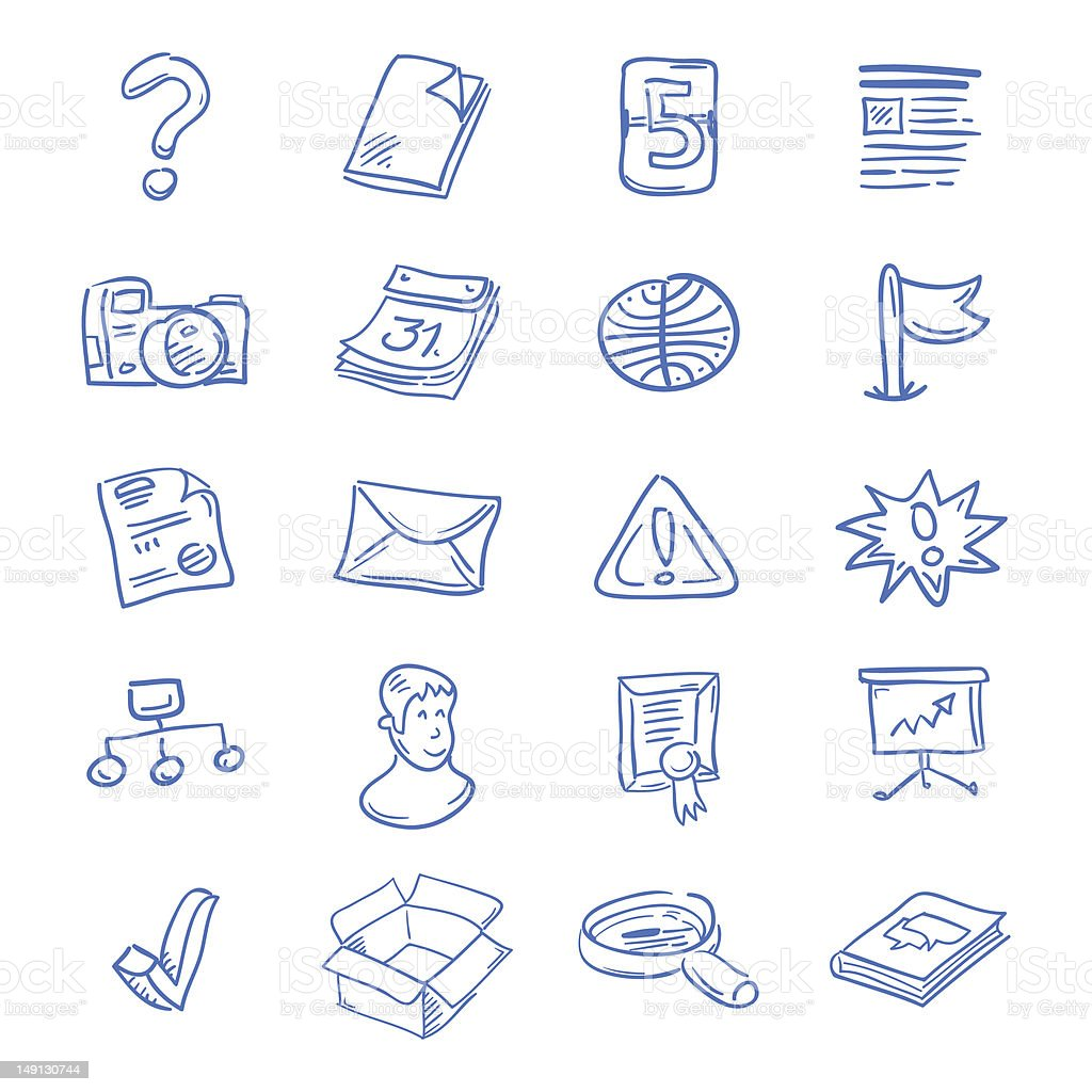 Blue web icons royalty-free stock vector art
