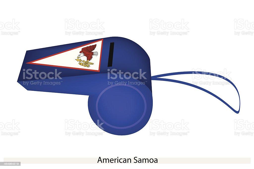 Blue Whistle of American Samoa Flag vector art illustration