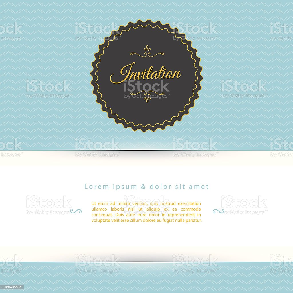 A blue white and black invitation template royalty-free stock vector art