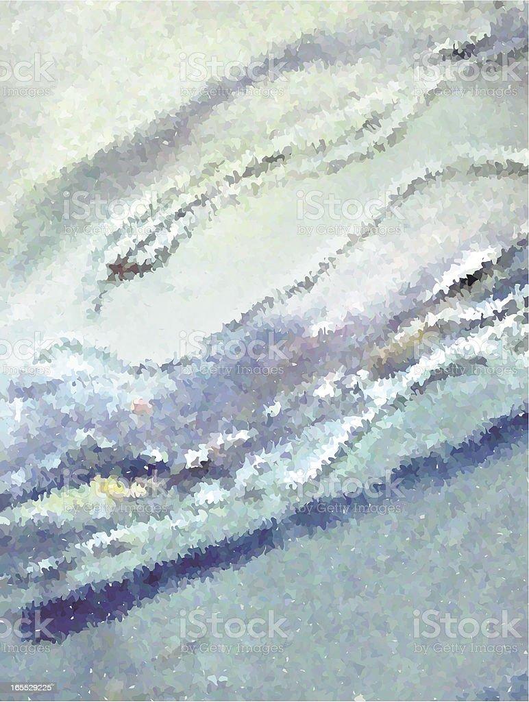 Blue White Paint stripes vector art illustration