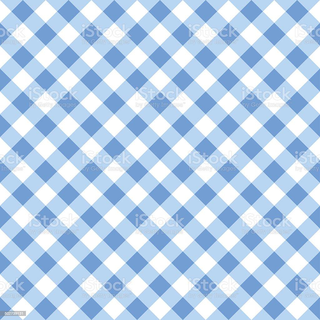 blue white plaid tablecloth vector art illustration