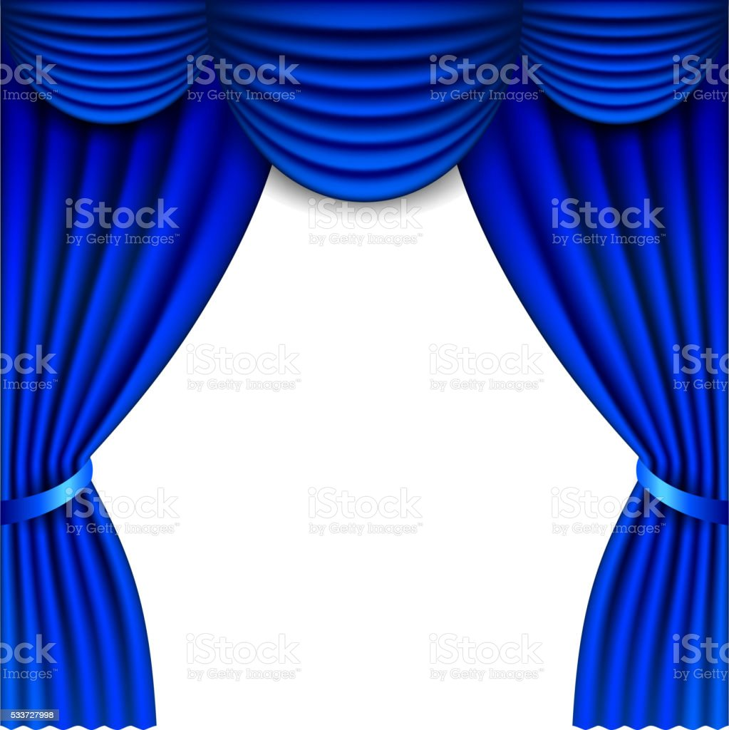 Cobalt blue window treatments - Blue Window Curtains Isolated On White Vector Royalty Free Stock Vector Art