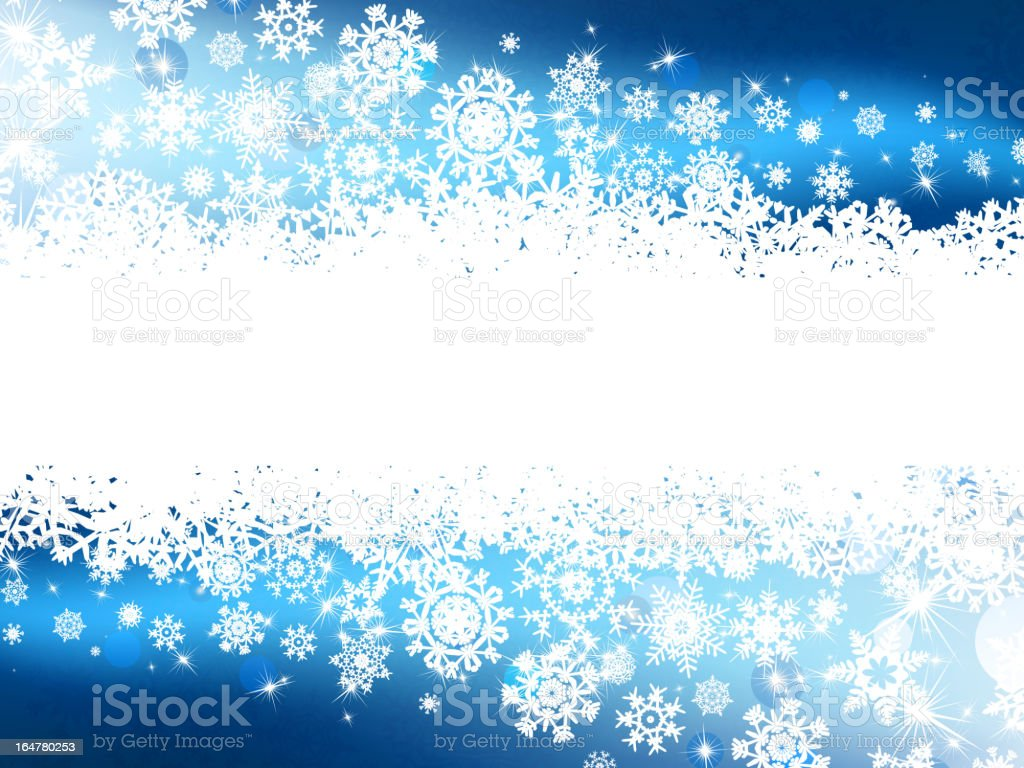 Blue winter background & snowflakes. EPS 8 royalty-free stock vector art