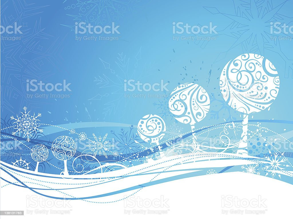 Blue winter background royalty-free stock vector art