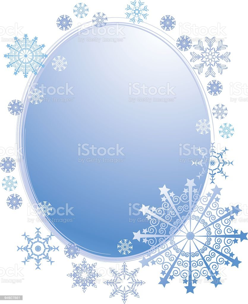 blue winter frame royalty-free stock vector art
