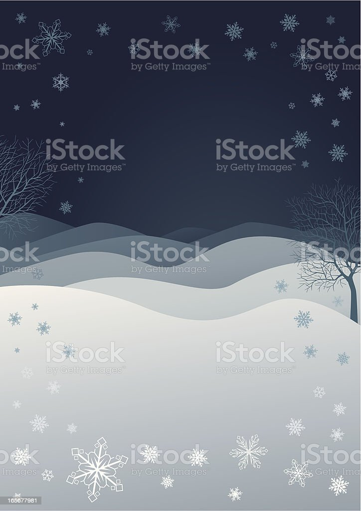 Blue Winternight royalty-free stock vector art