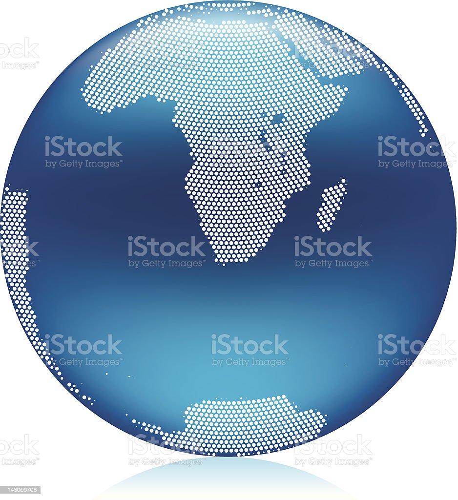 Blue world Globe royalty-free stock vector art