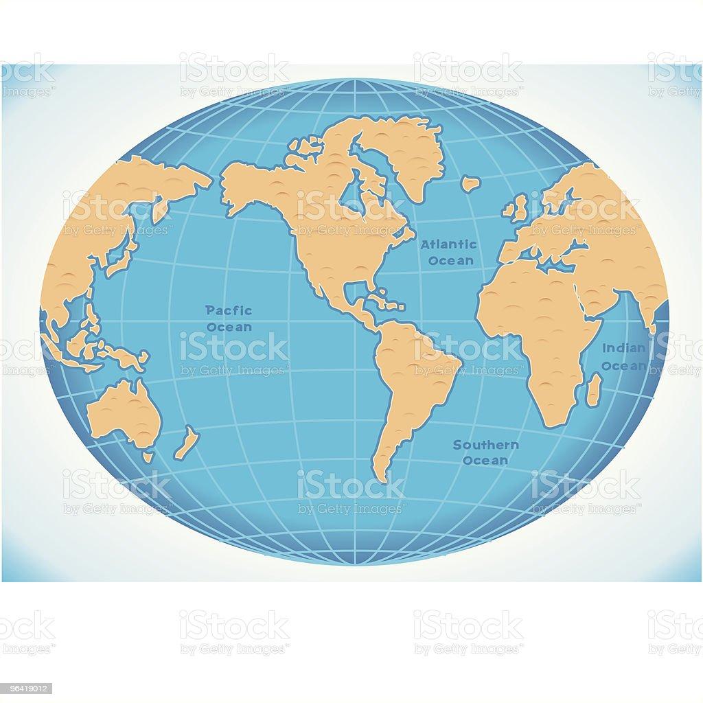 Blue World USA vector art illustration