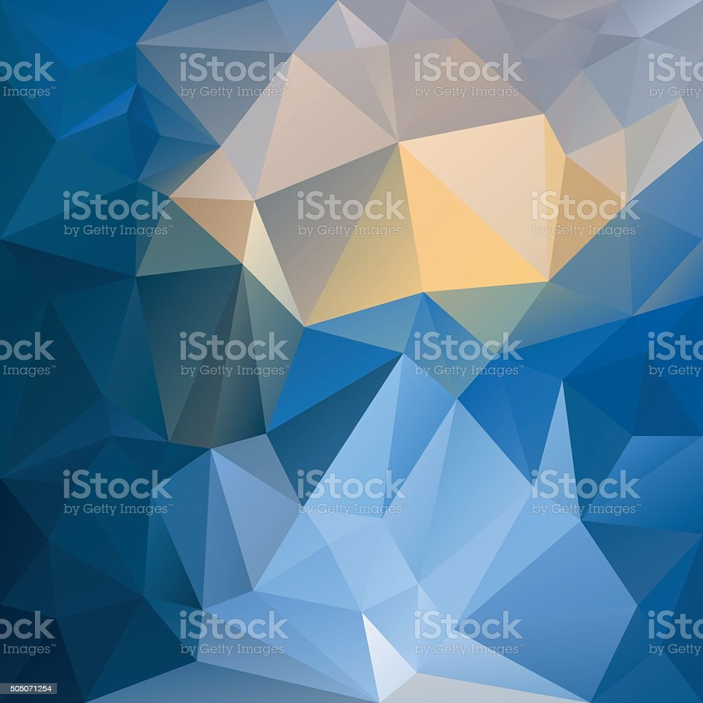 blue yellow abstract polygon background vector art illustration