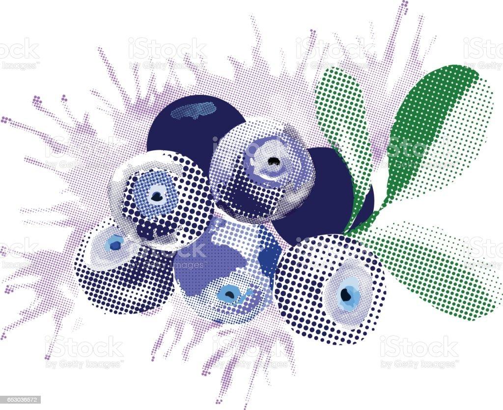 Blueberries. vector art illustration