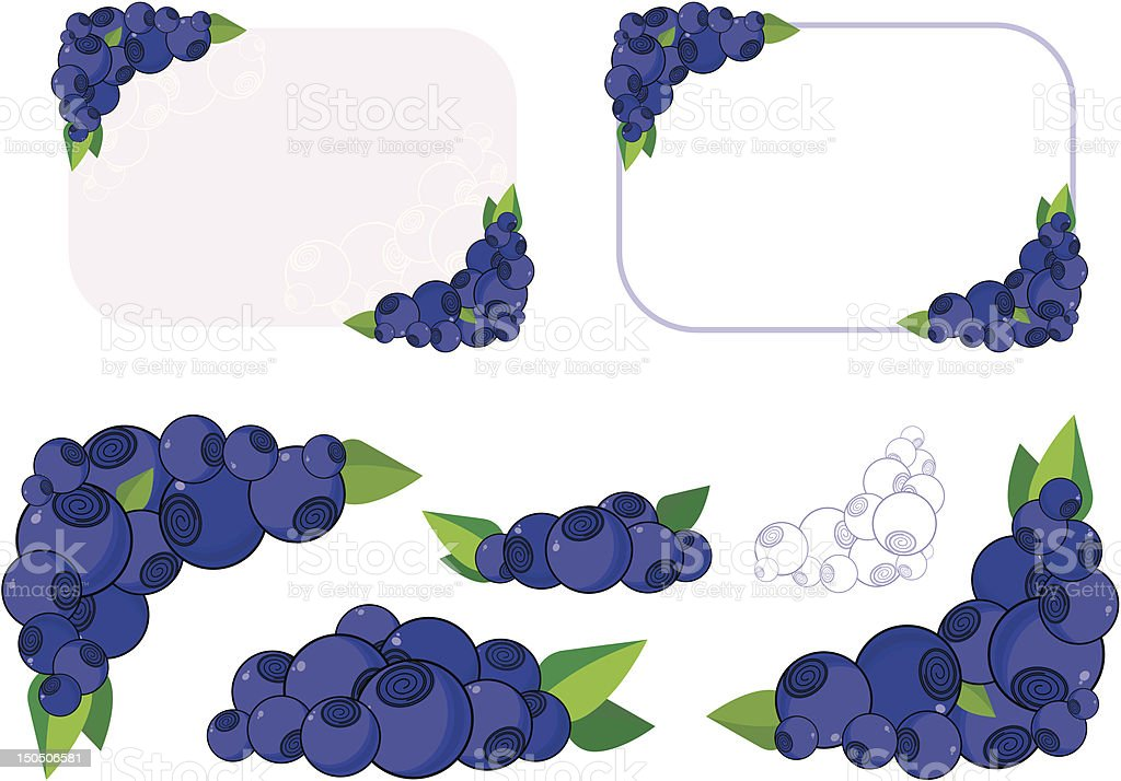blueberry background royalty-free stock vector art