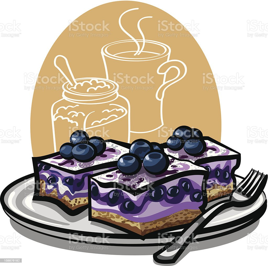 blueberry cakes royalty-free stock vector art