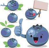 Blueberry Cartoon Set C