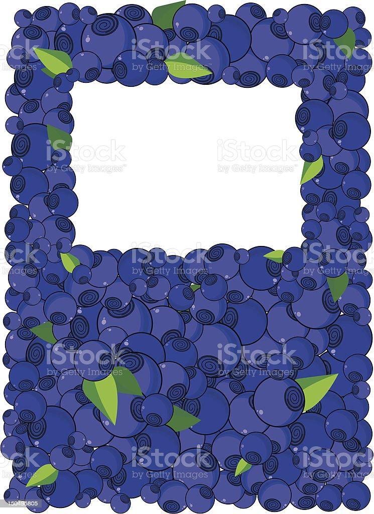 blueberry frame royalty-free stock vector art