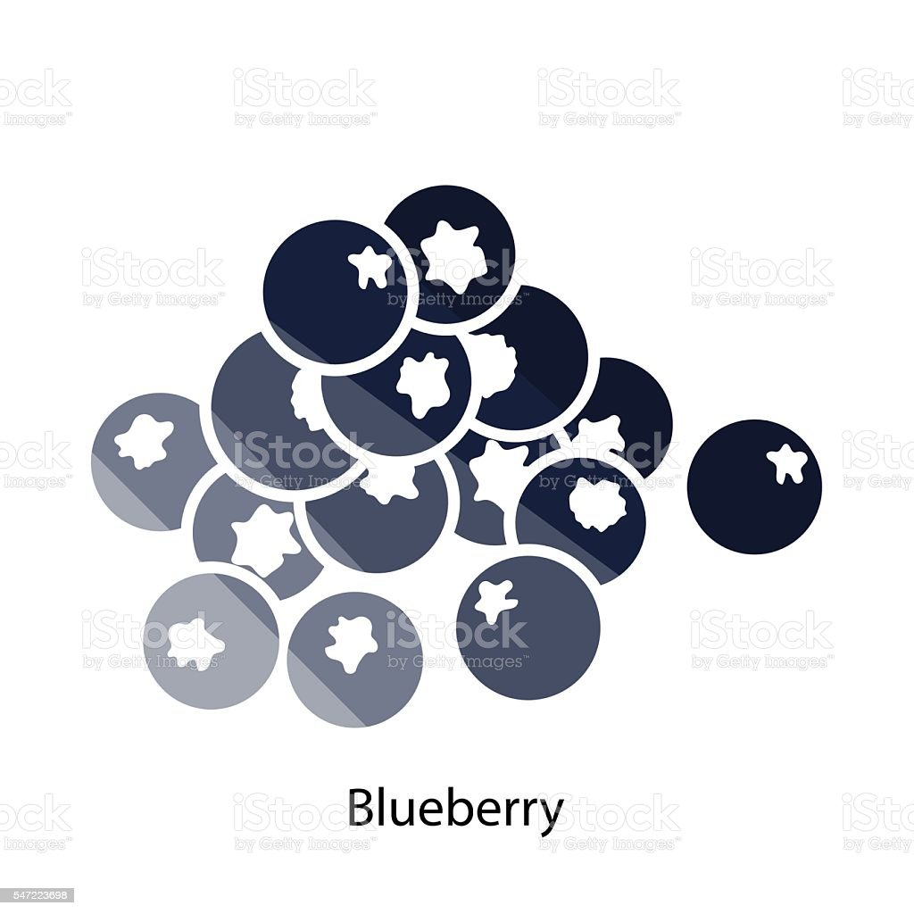 Blueberry icon vector art illustration