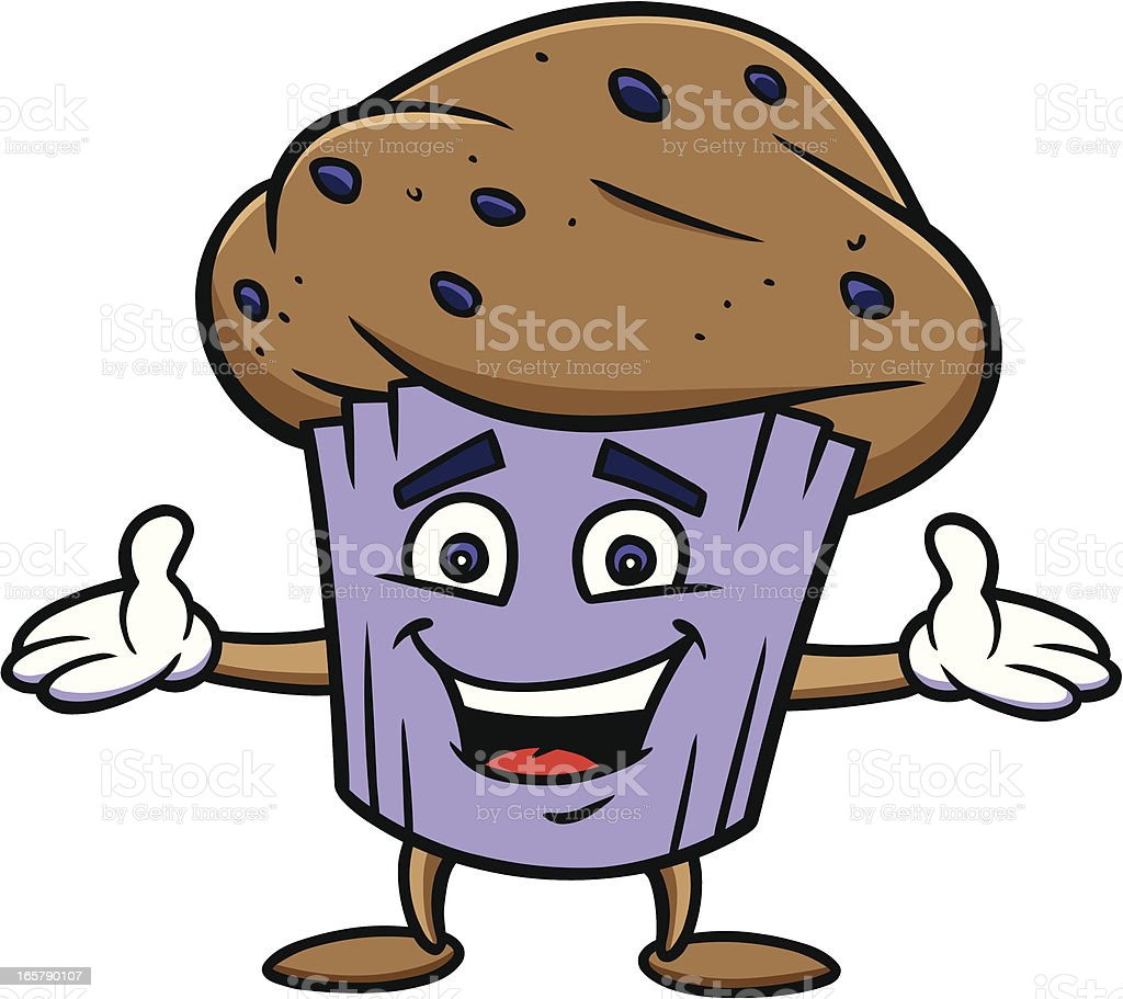 Blueberry Muffin royalty-free stock vector art