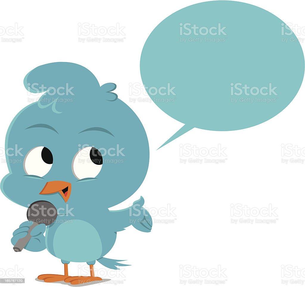 Bluebird announcement royalty-free stock vector art