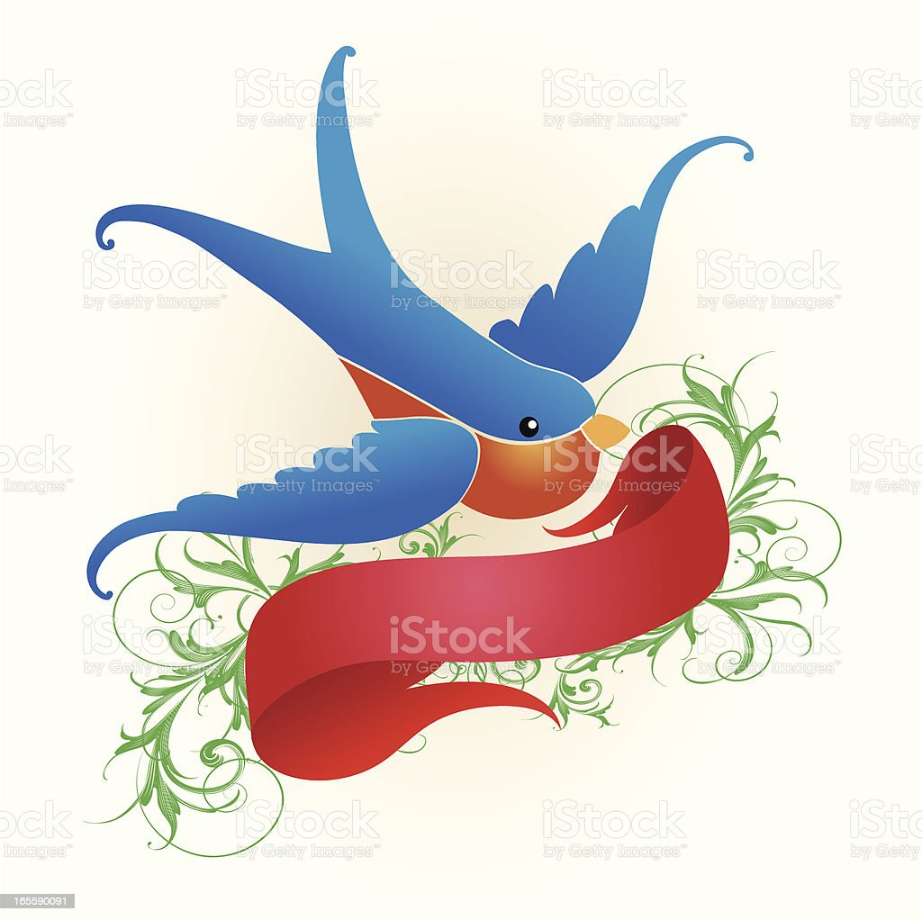 Bluebird Banner royalty-free stock vector art