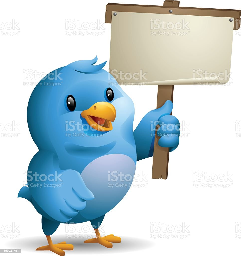 Bluebird: Holding Banner royalty-free stock vector art