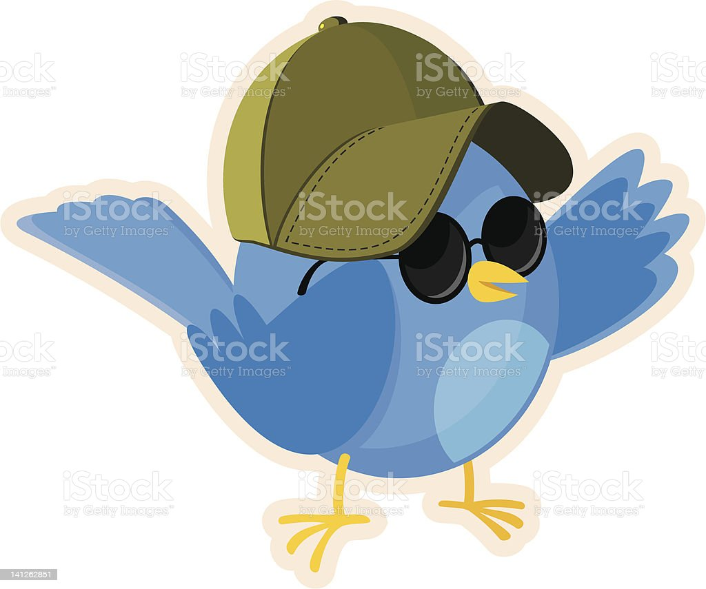 Bluebird in the Sun royalty-free stock vector art