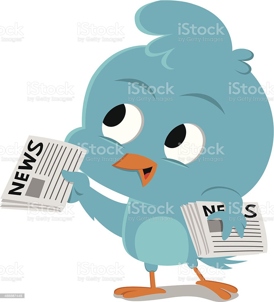 Bluebird newsboy royalty-free stock vector art