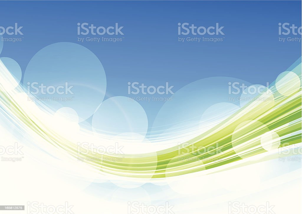 Blue/green lines royalty-free stock vector art
