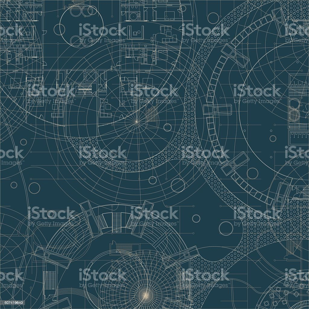 Blueprint. Architectural plan. vector art illustration