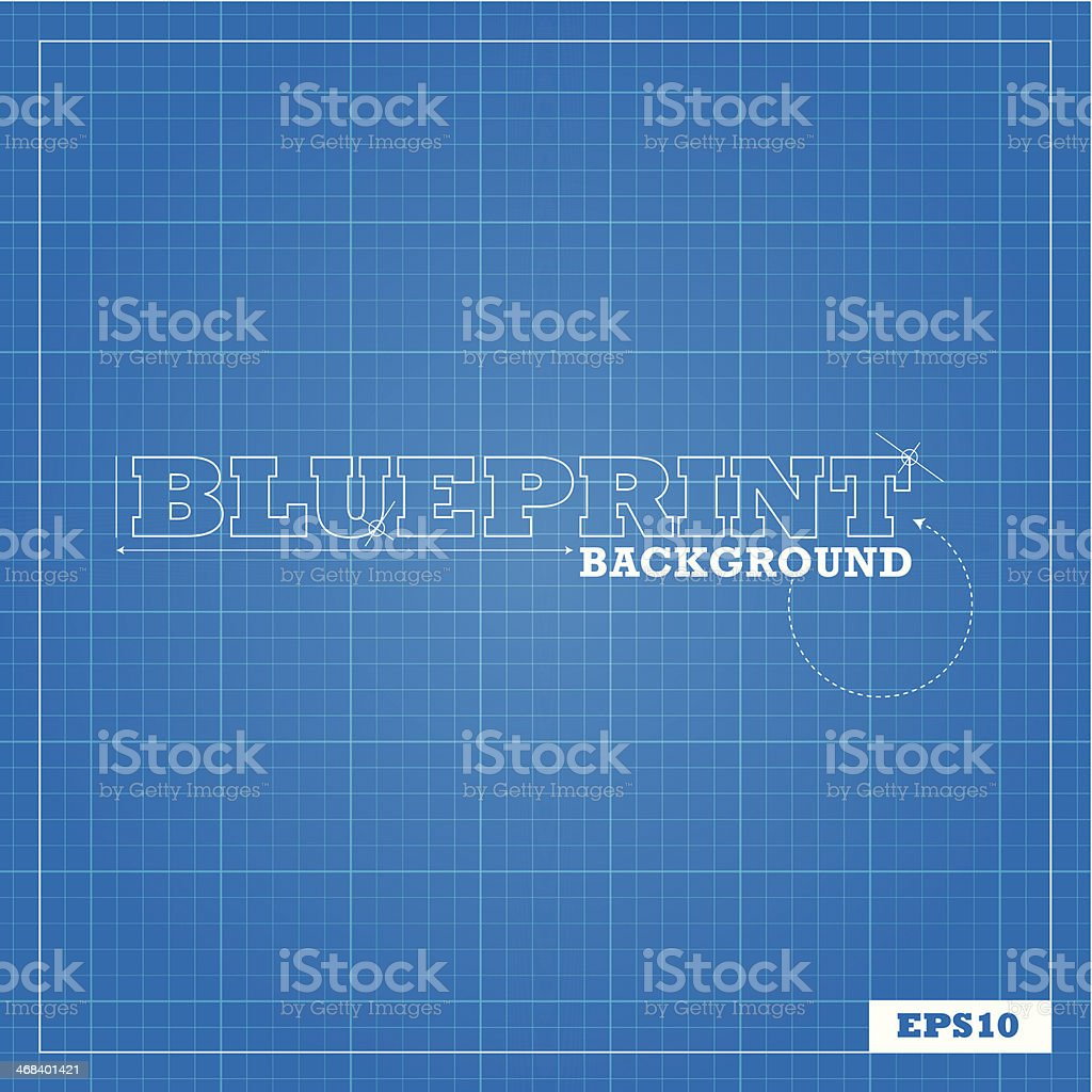 Blueprint Background vector art illustration
