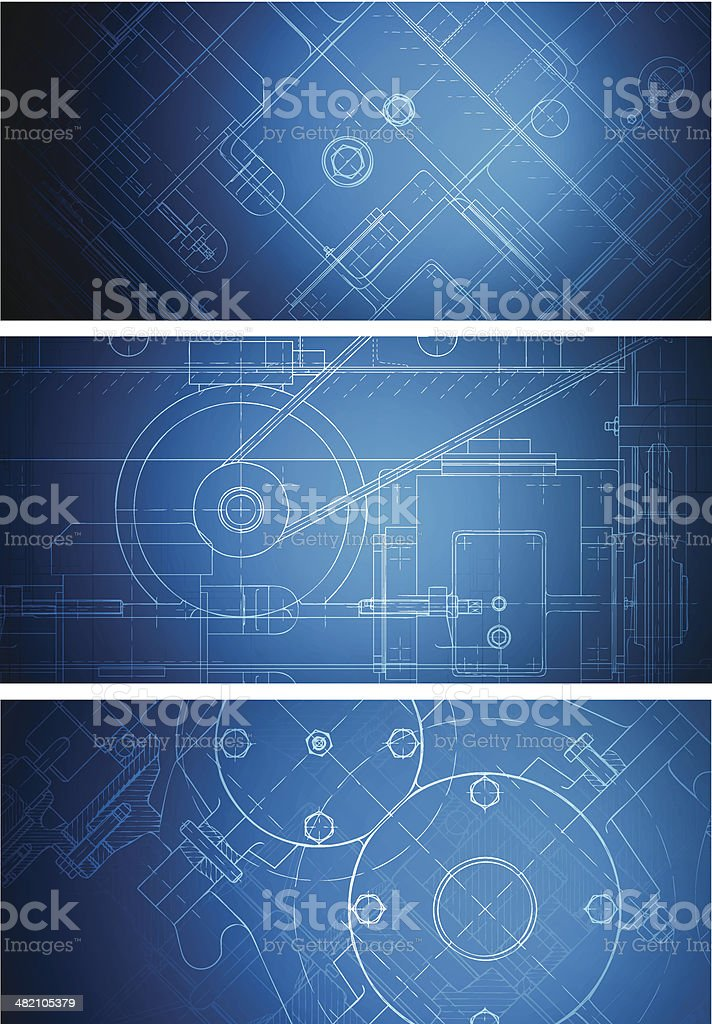 Blueprint banners royalty-free stock vector art