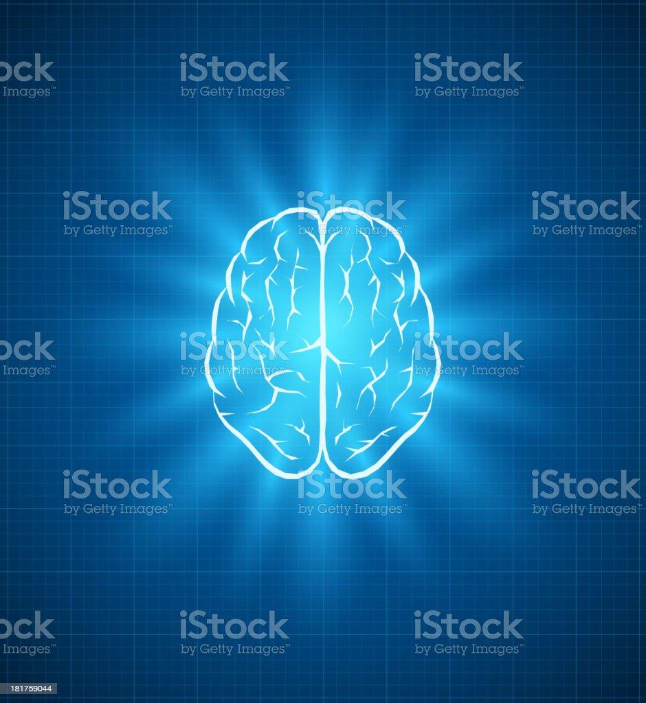 Blueprint Brain royalty-free stock vector art
