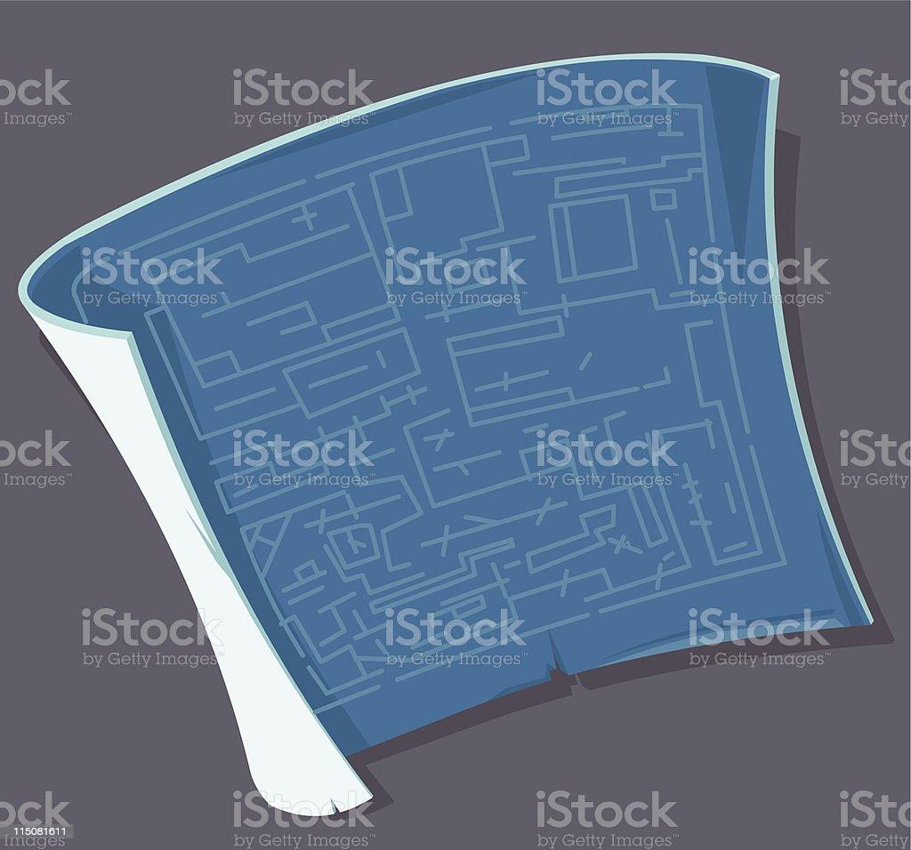 Blueprint Document Icon royalty-free stock vector art