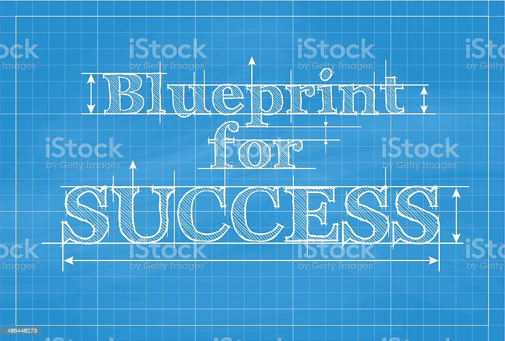 Blueprint for success vector art illustration