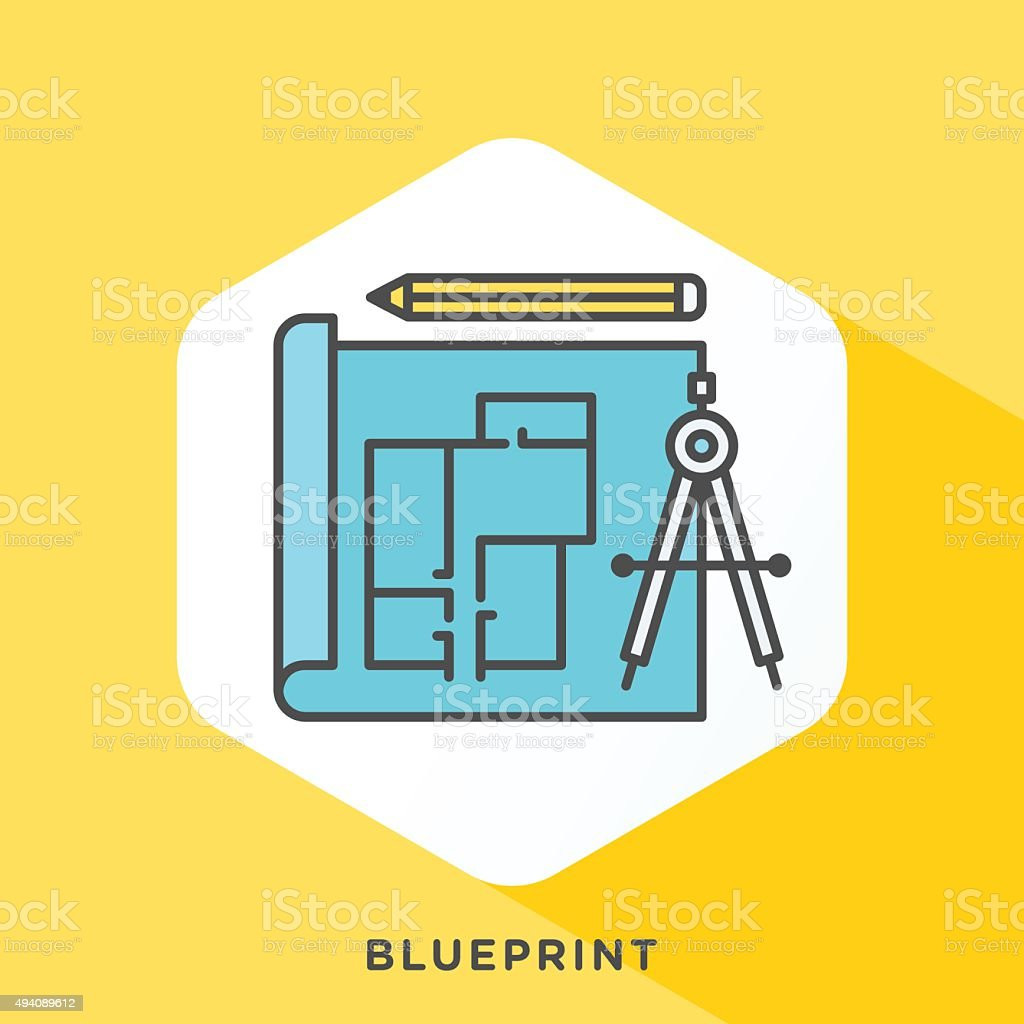 Blueprint Icon vector art illustration