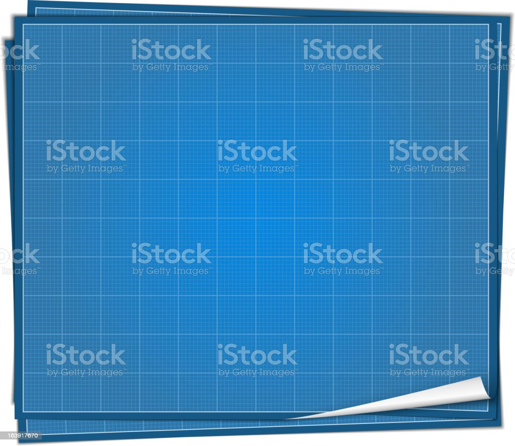 Blueprint Paper royalty-free stock vector art